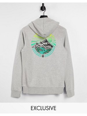 Element balmore hoodie in gray exclusive at asos-grey