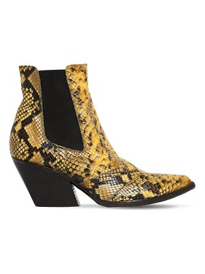 ELENA IACHI 60mm snake print leather cowboy boots