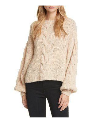 Eleven Six sophia cable knit alpaca blend sweater