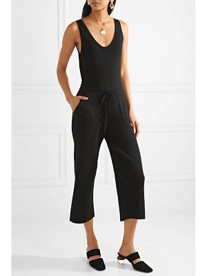 Eleven Six yossy ribbed pima cotton-blend jumpsuit