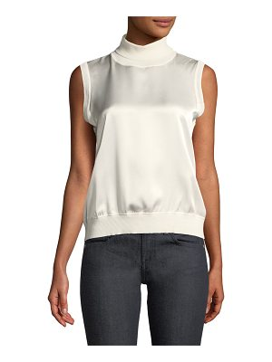 Elie Tahari Abigail Sleeveless Silk Blouse