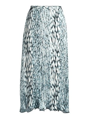 Elie Tahari alex pleated printed tie-dye skirt