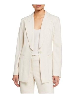 Elie Tahari Dahlia One-Button Stretch Twill Jacket