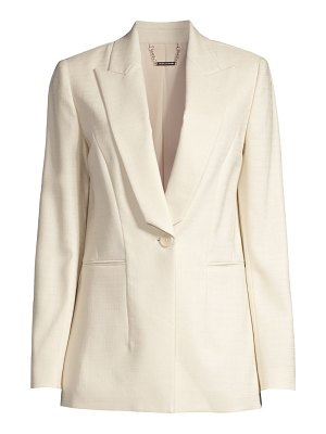 Elie Tahari dahlia peak-lapel tailored blazer