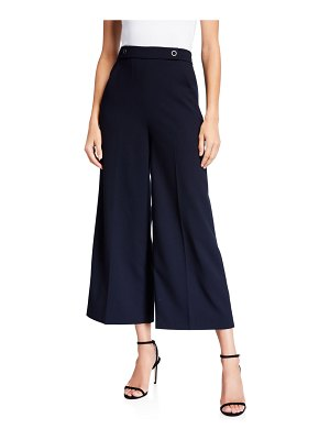 Elie Tahari Juno Wide-Leg Crop Pants