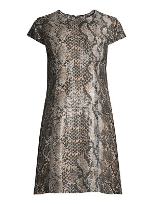Elie Tahari sequined snake-print shift mini dress