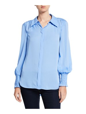 Elie Tahari Shayna Long-Sleeve Blouse
