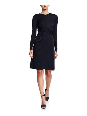 Elie Tahari Winda Long-Sleeve Jersey Dress