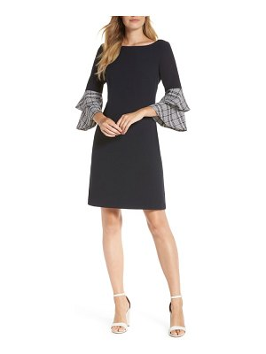 Eliza J double ruffle sleeve dress