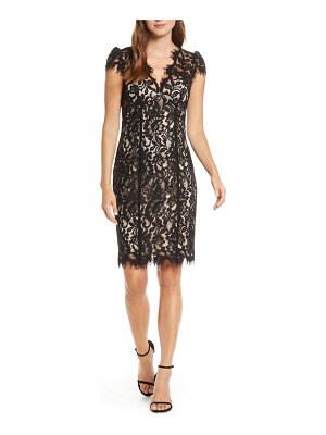 Eliza J floral lace cocktail sheath
