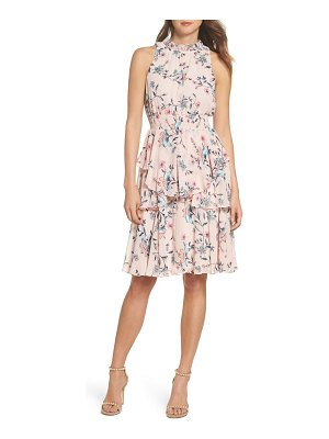 Eliza J floral ruffle a-line dress