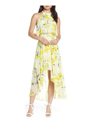 Eliza J high/low halter midi dress