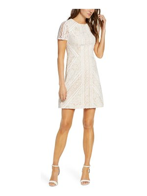 Eliza J lace short sleeve shift minidress