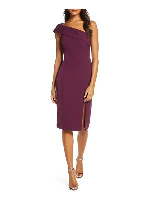 Eliza J off the shoulder scuba crepe cocktail dress
