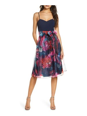 Eliza J organza fit & flare cocktail dress