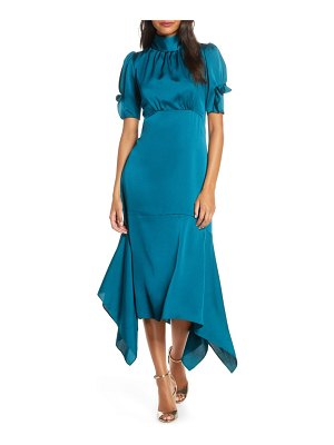 Eliza J ruffle puff sleeve dress