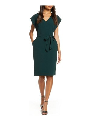 Eliza J ruffle sleeve sheath dress