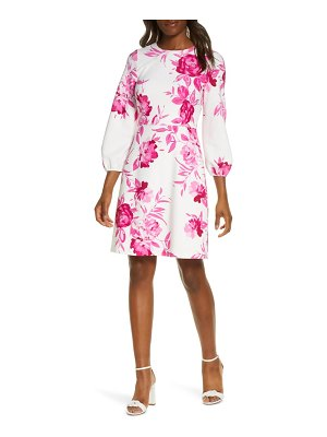 Eliza J scuba crepe fit & flare dress