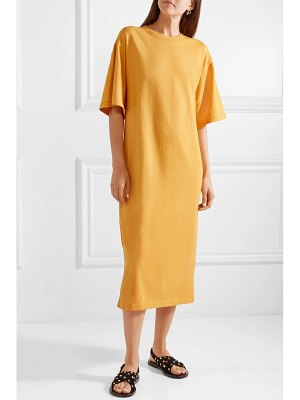 Elizabeth and James crawford oversized cotton-blend terry midi dress