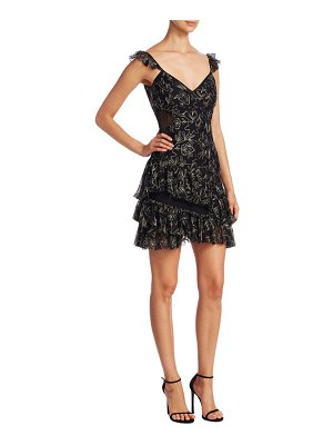 Cinq Sept Enid Embroidered Ruffle Dress