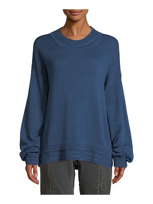 Elizabeth and James Hensley Rib-Trim Cotton Pullover Sweater