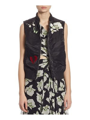 Cinq Sept Kingston Embellished Bomber Vest