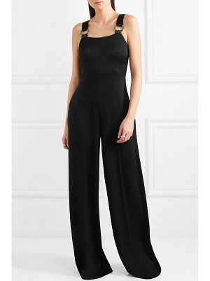 Elizabeth and James loordes embellished satin-trimmed cady jumpsuit