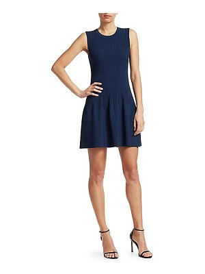 Elizabeth and James rye ribbed fit-and-flare mini dress