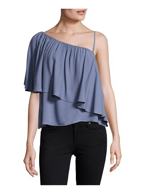 Ella Moss Chambray Ruffle Top