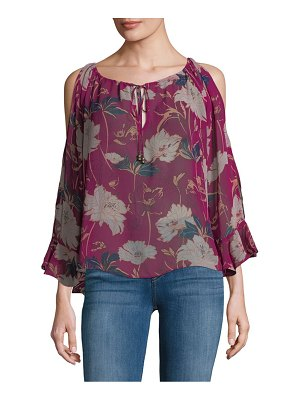 Ella Moss Floral Cold Shoulder Top