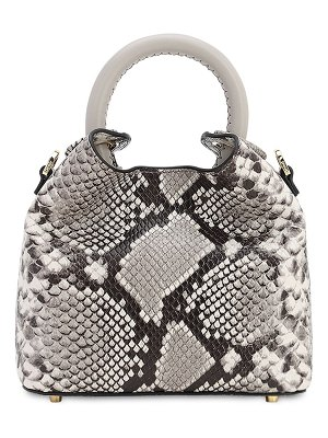 Elleme Madeleine snake printed leather bag