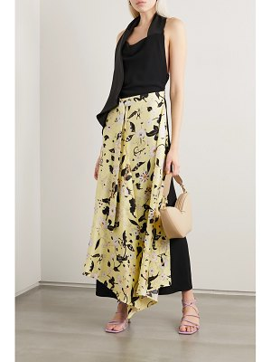 Ellery draped floral-print silk-twill and crepe halterneck maxi dress