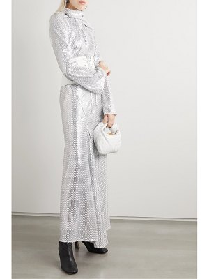 Ellery fernando belted sequined tulle maxi dress