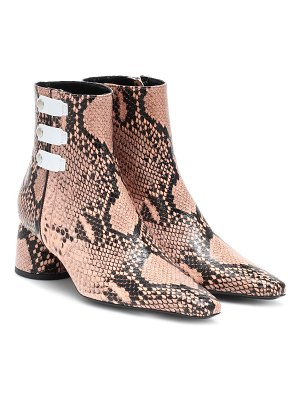 Ellery printed leather ankle boots