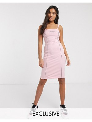 Ellesse bodycon cami dress with reflective piping-pink