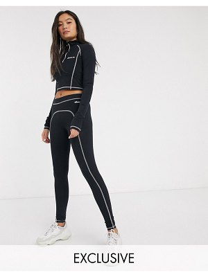 Ellesse leggings with contrast stitching two-piece-black