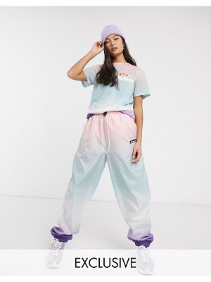 Ellesse relaxed sweatpants in rainbow fade print two-piece-multi