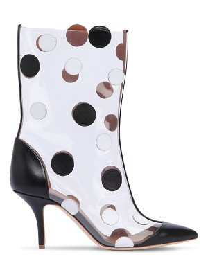 EMANUEL UNGARO BY MALONE SOULIERS 45mm katoucha leather & plexi boots