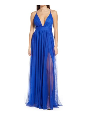 LNL plunge tulle gown