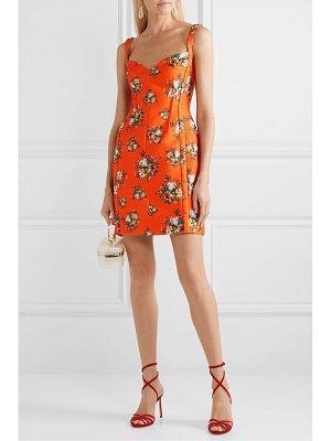 EMILIA WICKSTEAD floral-print cloqué mini dress
