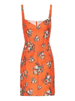 EMILIA WICKSTEAD fyfe floral double-cloqué minidress