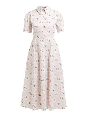 EMILIA WICKSTEAD sienna boat print midi dress