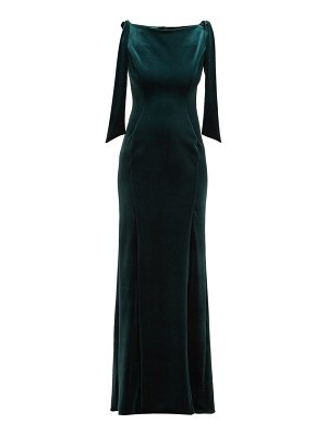EMILIO DE LA MORENA Princess Cut Velvet Dress
