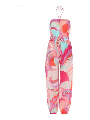 Emilio Pucci Beach Printed cotton and silk jumpsuit