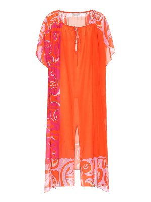 Emilio Pucci Beach printed cotton and silk kaftan