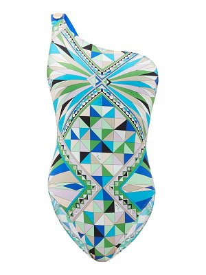 Emilio Pucci one-shoulder printed swimsuit