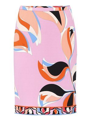 Emilio Pucci printed crêpe pencil skirt