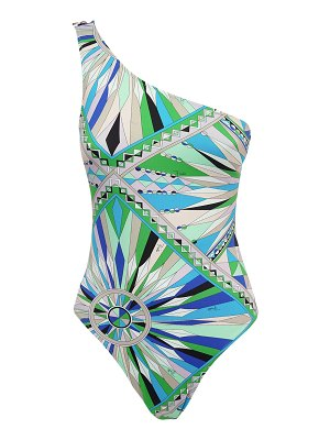 Emilio Pucci Printed one shoulder one piece swimsuit