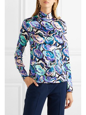 Emilio Pucci printed silk-blend satin blouse