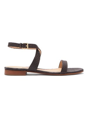 EMME PARSONS siena crocodile-effect leather sandals